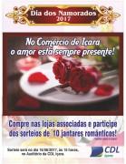 Comércio de Içara sorteará 10 jantares inspirado pelo romantismo