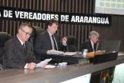 Primeira sessão de Junho em Araranguá com pauta cheia