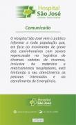 COMUNICADO IMPORTANTE HOSPITAL SÃO JOSÉ