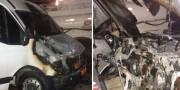 Veículo é parcialmente destruído por incêndio em oficina mecânjca no Bairro Liri