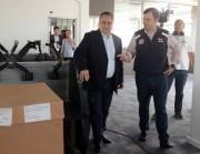 Colombo visita obras do centro de gestão de riscos da Defesa Civil