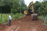 Secretaria de Obras de Siderópolis faz manutenção