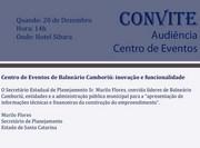 Audiencia sobre o Centro de Eventos de Balneário Camboriú