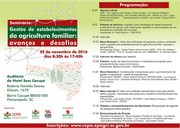 Abre inscrições para Seminário sobre gestão de propriedades rurais