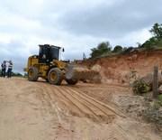 Rio Comprudente recebe obra de alargamento de estrada