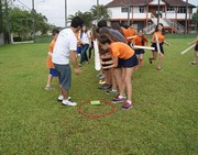 Crianças participam de atividade no Horto Florestal