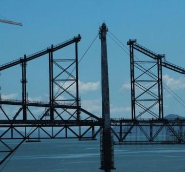 Primeira etapa de retirada das barras de olhal da Ponte é concluída