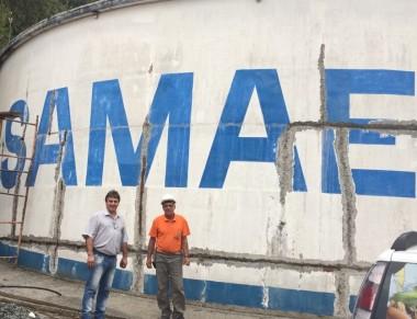 Reservatórios do SAMAE Araranguá passam por reforma