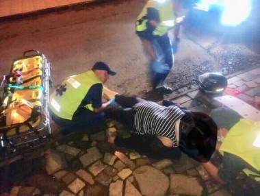 Buracos na rua provocam acidente com motociclista em Içara