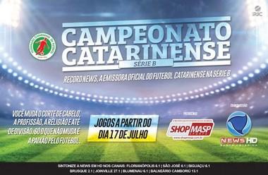 Record News SC é a emissora oficial do Catarinense de Futebol da Série B