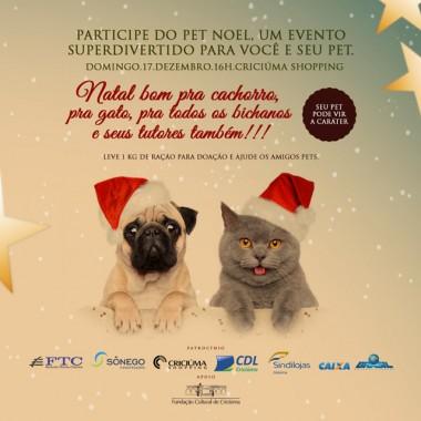 Evento Pet Noel transferido para quarta-feira