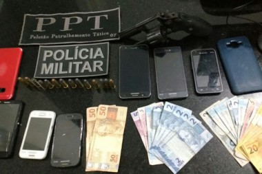 Quadrilha de assaltantes é presa em ação conjunta da PM