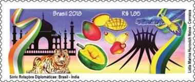 Selos destacam a amizade Brasil-Índia