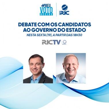 RICTV exibe debate eleitoral com candidatos ao Governo para Joinville e região nesta sexta-feira (19)