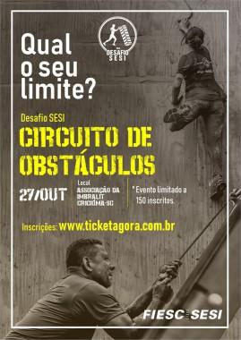 "SESI realiza pela primeira vez em Criciúma o desafio ""Circuito de Obstáculos"""