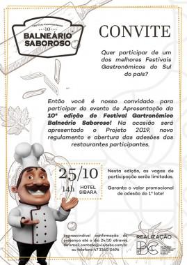 BC Convention lança 10ª edição do Balneário Saboroso neste dia 25