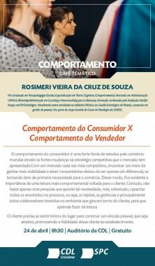 Comportamento do consumidor x Comportamento do vendedor é tema de café gratuito