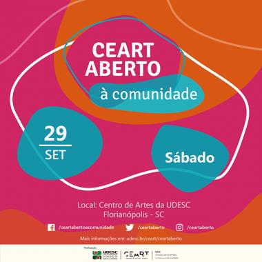 Ceart Aberto à Comunidade terá atividades culturais para adultos e crianças em 29 de setembro na Udesc