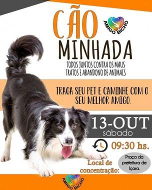Cãominhada pelos animais acontece neste sábado em Içara