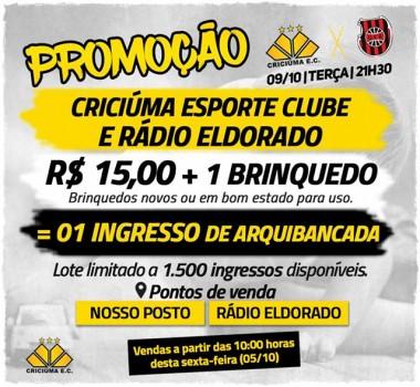 Promoção especial para Criciúma e Brasil