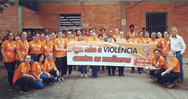 Paço Municipal Antônio Feltrin participa do projeto de Combate à Violência Contra a Mulher