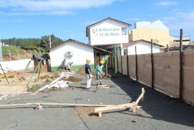 Iniciadas obras de duas novas salas na Escola Nivaldo Rosa, em Maracajá