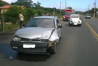 Colisão frontal na Rodovia Claudino Botega em Jaguaruna