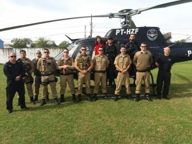 19º BPM finaliza treinamentos com aeronave do Saer