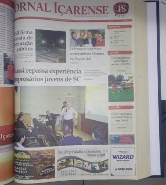 Jornal Içarense registra seus 22 anos de história em Içara