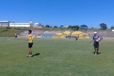 Intensidade alta em treino físico e tático dos atletas do Tigre