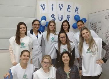 Participantes do Viver SUS Unesc iniciam atendimento na região de Criciúma