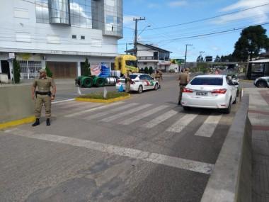 Maracajá bem protegida com a presença da Polícia Militar
