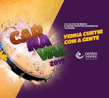 Vem aí o Carnaval Infantil do Center Shopping Araranguá