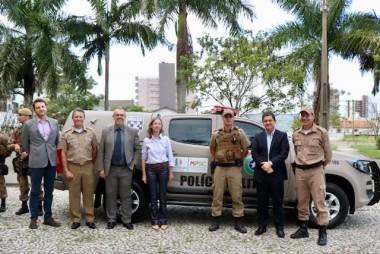 Poder Judiciário de Tubarão doa viatura à Polícia Militar