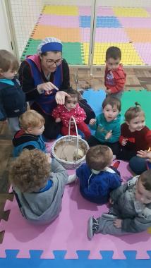 Crianças do CEI Afasc Benevenuto Guidi aprendem mais sobre cuidado com animais