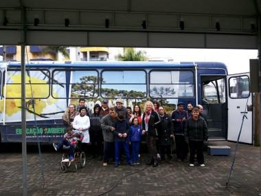 Eco-ônibus chega a Siderópolis trazendo conscientização e motivação