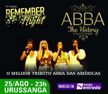 ABBA estará na Remember Night em Urussanga