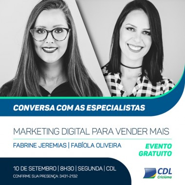 Marketing digital para vendas é tema de capacitação gratuita na CDL de Criciúma