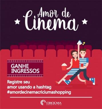 Criciúma Shopping vai presentear 150 casais com ingressos para cinema