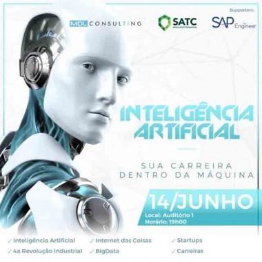 Inteligência Artificial é tema de palestra amanhã na Satc