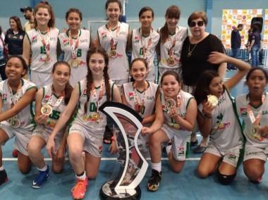 Satc é campeã do Estadual de Basquete sub-12