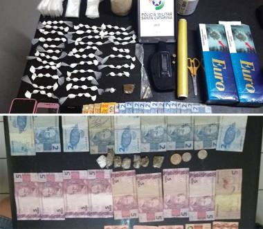 Casal de Vila Nova é detido com drogas