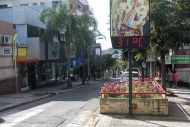 Temperatura continuará subindo durante a semana