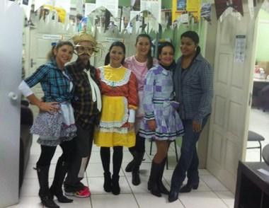Arraiá do Caps de Içara reúne pacientes e funcionários