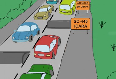 Lombadas deixam trânsito mais lento