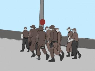 PM marcha pela cidade