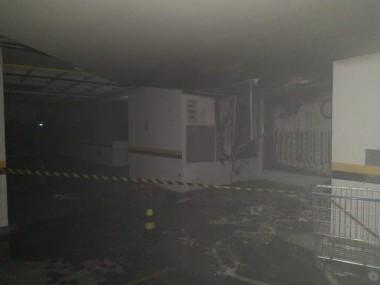 Incêndio atinge subsolo do Metropolitan Business Center em Criciúma