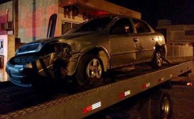 Adolescente é apreendido após furtar e colidir veículo, em Içara
