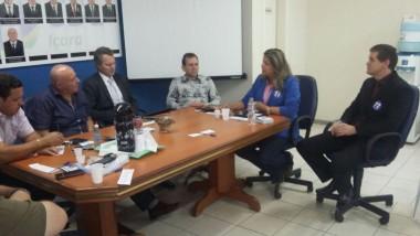 Dalvania Cardoso expõe propostas a diretoria da CDL de Içara