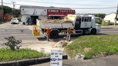 DNIT/SC concentra conservação da BR-101 Sul entre Maracajá a São João do Sul